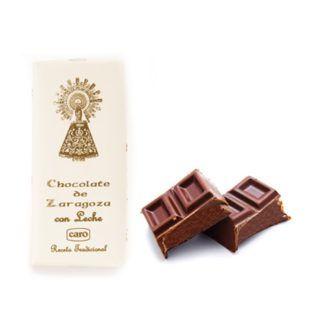 chocolate de zaragoza con leche artesano