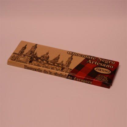chocolate negro artesano recuerdo de zaragoza